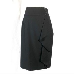 classiques entier Black Wool Blend Pencil Skirt